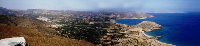 Εικ. 18. Θέα της περιοχής του Παλαικάστρου από το ιερό κορυφής Πετσοφά. Άποψη από Νότια.