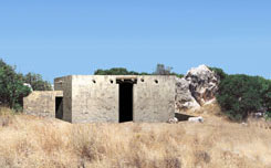 Εικ. 5. Τάφος III, Βόρειο Νεκροταφείο Γουρνιών. Aναπαράσταση με μία είσοδο.