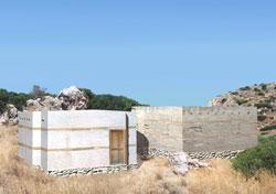 Εικ. 7. Τάφοι I και II, Βόρειο Νεκροταφείο Γουρνιών. Αναπαράσταση με είσοδο αλλά χωρίς παράθυρα.