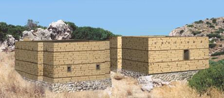 Εικ. 9. Τάφοι I και II, Βόρειο Νεκροταφείο Γουρνιών. Αναπαράσταση με μικρό παράθυρο.