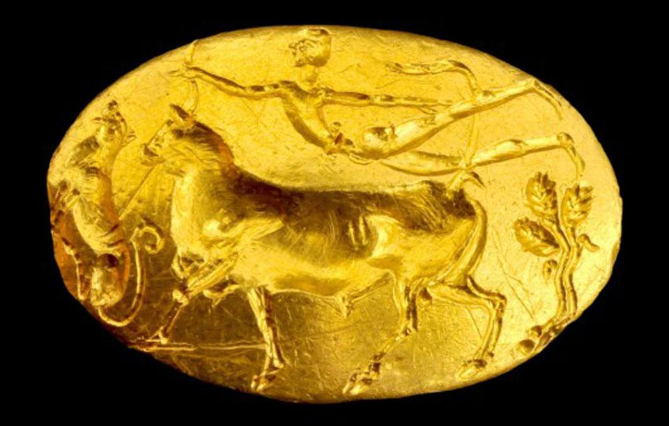 «Το δαχτυλίδι του Θησέα». Μυκηναϊκό σφραγιστικό δαχτυλίδι από την Ακρόπολη, 15ος αι. π.Χ.