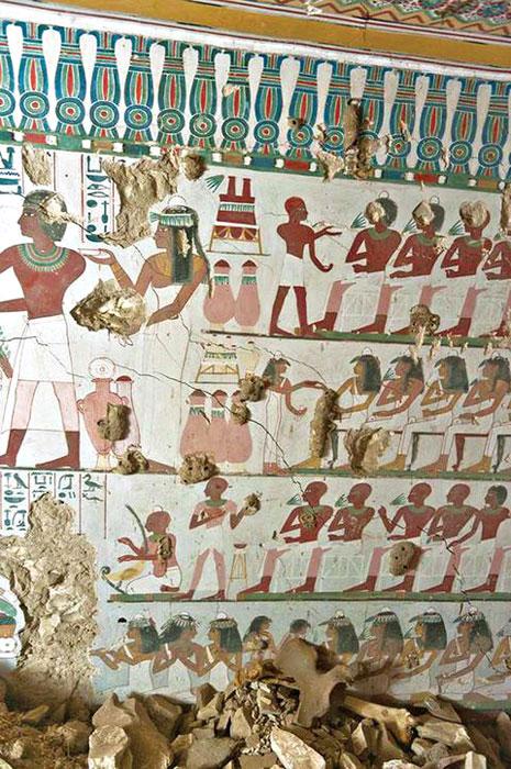 Τοιχογραφία στο Λούξορ της Αιγύπτου
