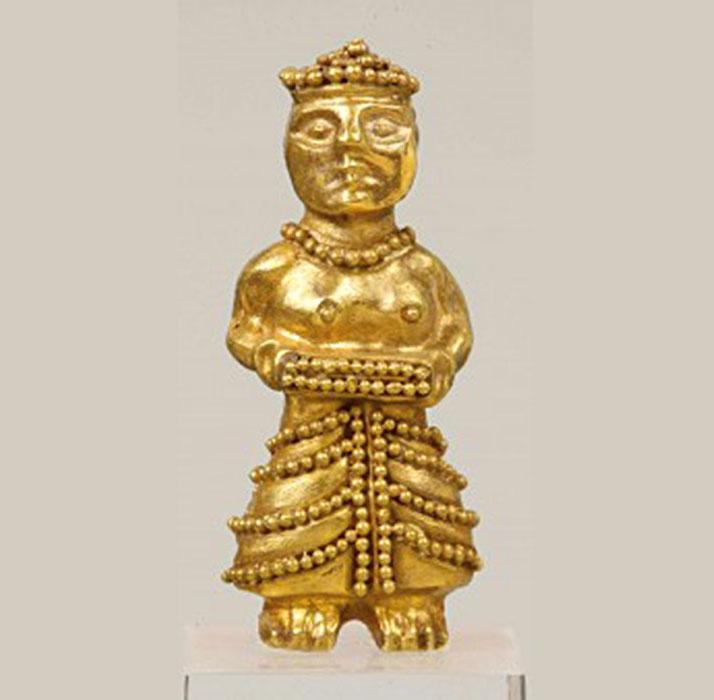 Χρυσό περίαπτο του 14ου-13ου αι. π.Χ. Εθνικό Αρχαιολογικό Μουσείο