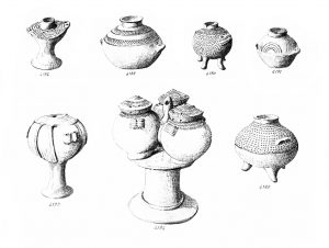 Koumasa, suspension pots (E.M. I). Scale 1:2.