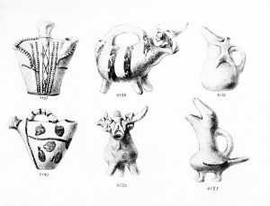 Koumasa, clay vessels (E.M.II and III). Scale 1:3.