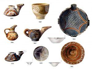 Porti, clay vases (M.M.I). Scales—5056, 5059, 5066, 5070, 1:2; 5067, 5069, 3:4;  5054, 5082, 3:8.