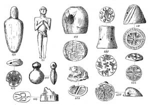 Porti, figurines, seals, etc. Scale 1:1, except 654, 3:2; 171, 3:4; 173, 1:2.