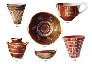 Platanos, clay vases (M.M.I). Scale 3:4.