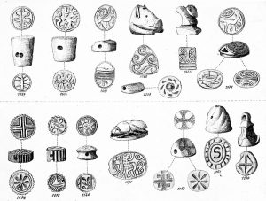 Platanos, ivory and stone seals.