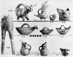 Koumasa, clay zoomorphic vases (E.M.II to M.M.I).