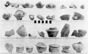 Sherds from Salame (top row) and Koutsokera (E.M.I and II).