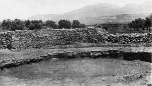 Platanos, pile of stones taken from Tholos B.