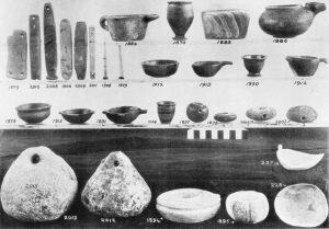Platanos, stone vases, etc.
