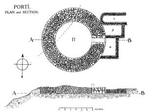 Porti. Plan and section.