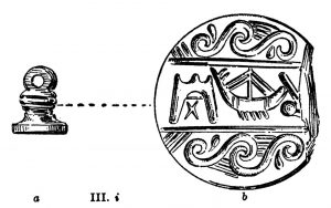 Seal from Tomb III. Scale 1:1 and 3:1.