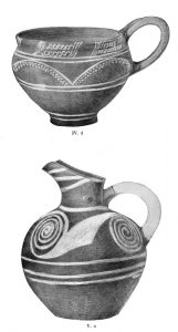 Pottery from Tombs IV and V. Scale 2:3 and 1:2.