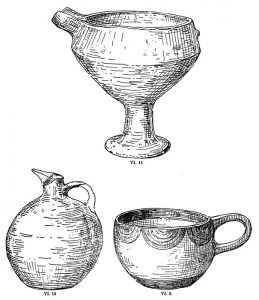 Pottery from Tomb VI. Scale 1:2.