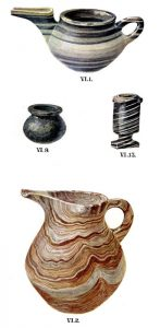 Stone vases from Tomb VI. Scale about 3:5.
