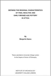 Defining the regional characteristics of Final Neolithic and Early Bronze Age pottery in Attica