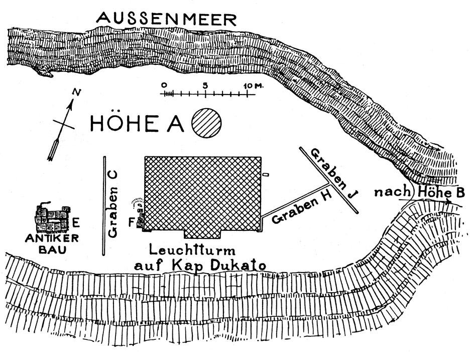 <p>W. Dörpfeld, <em>Alt-Ithaka</em> (1927), vol. I, fig. 32</p>