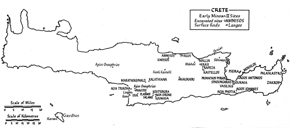 <p> 	J. Pendlebury, <em>The Archaeology of Crete</em> (1939), map 5</p>