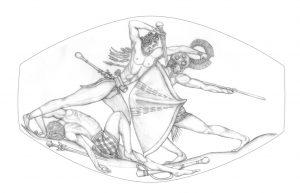 Σφραγιδόλιθος ασύγκριτης τέχνης από τάφο πολεμιστή στην Πύλο